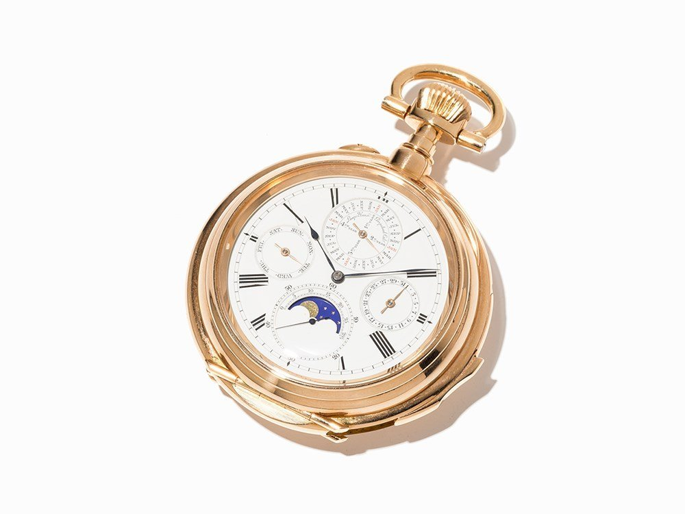 Gold Pocket Watch with Minute Repetition & Perpetual