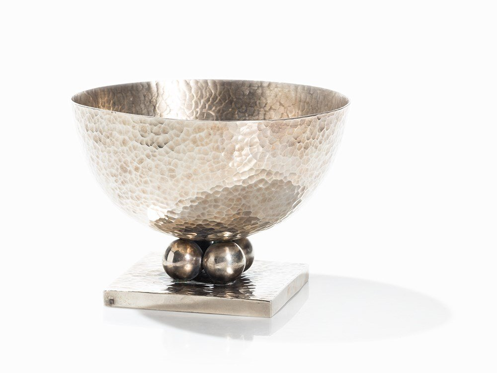 Jean Desprs, Large Bowl with Hammered Decoration, c.