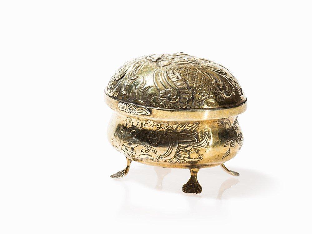 Jakob A. Ksel, Silver Sugar Bowl With Lid, Berlin, c.