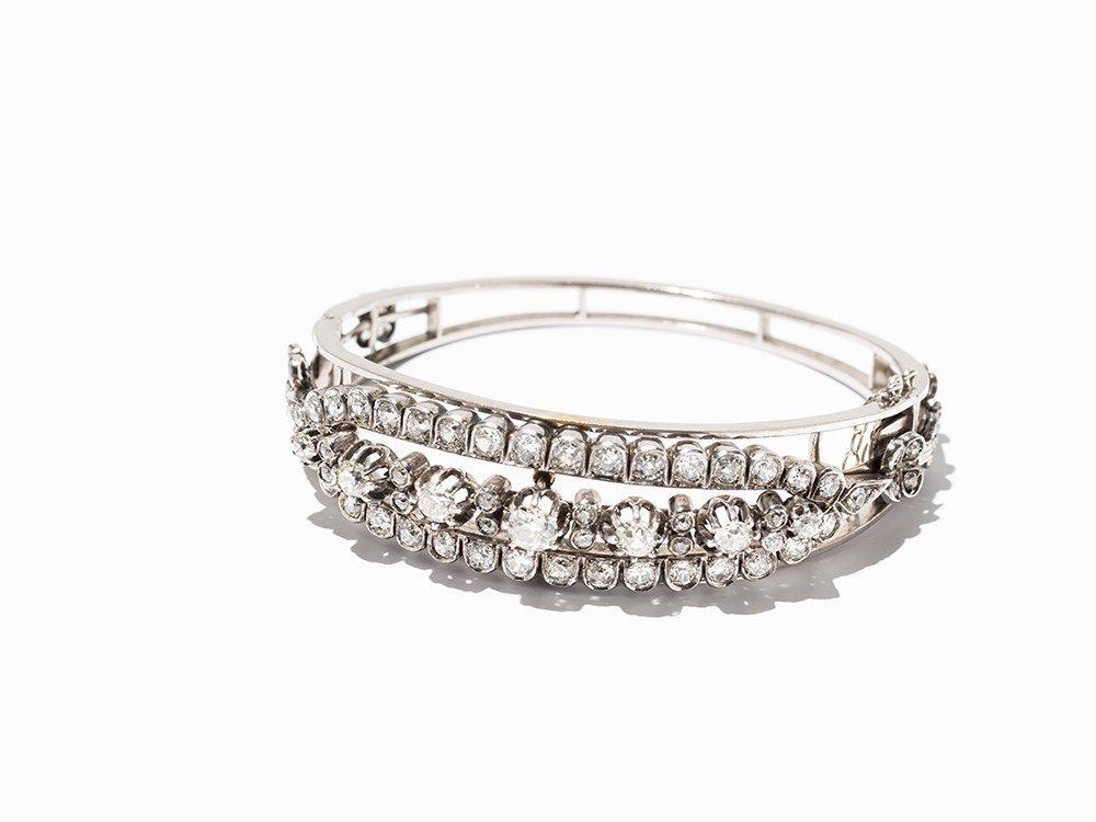 Bracelet with 77 Diamonds, 18K Gold, c. 1880