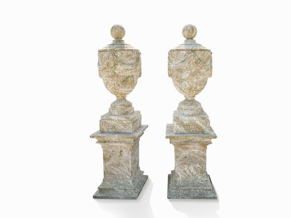 Pair of Monumental Vases in Lois XVI Style, France,