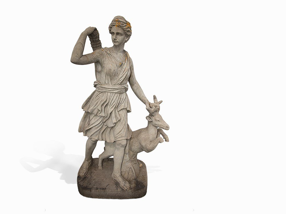 Diana of Versailles', Copy, Sandstone, 20th C.