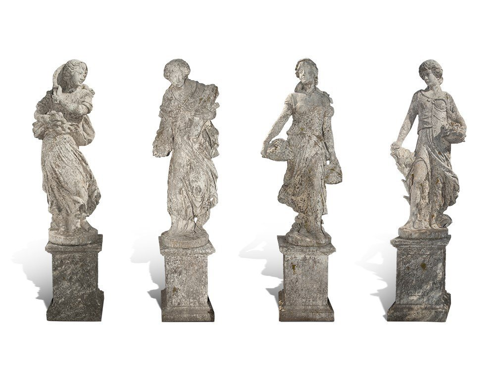 Allegorical Figure Cycle of the Four Seasons, 20th C.