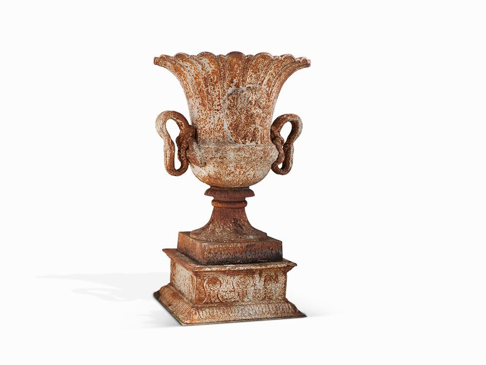 Vase in the Style of Classicism, Cast Iron, Europe,