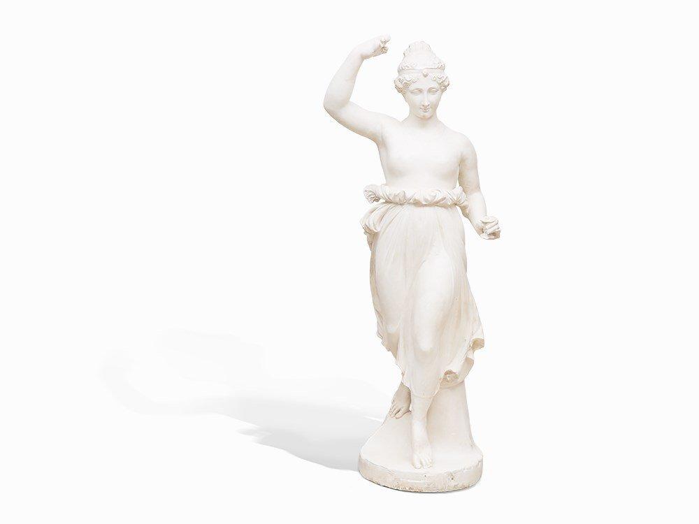 Figure of Goddess Flora, Plaster Cast, Italy, around