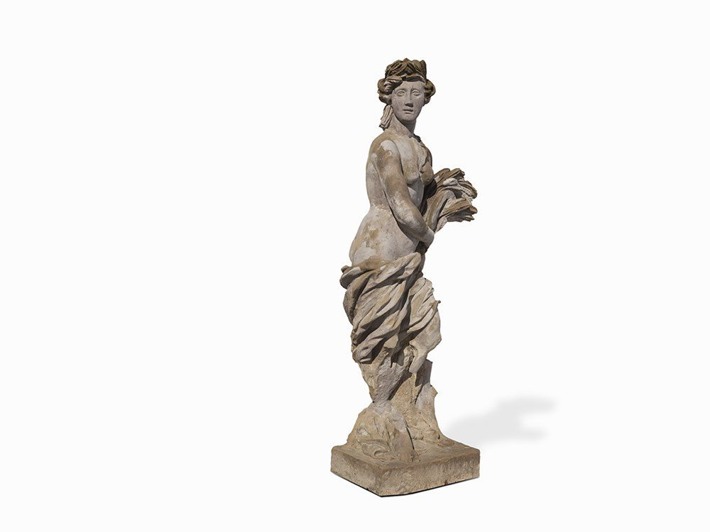Sandstone Sculpture, Allegory of the Summer, 18th C.