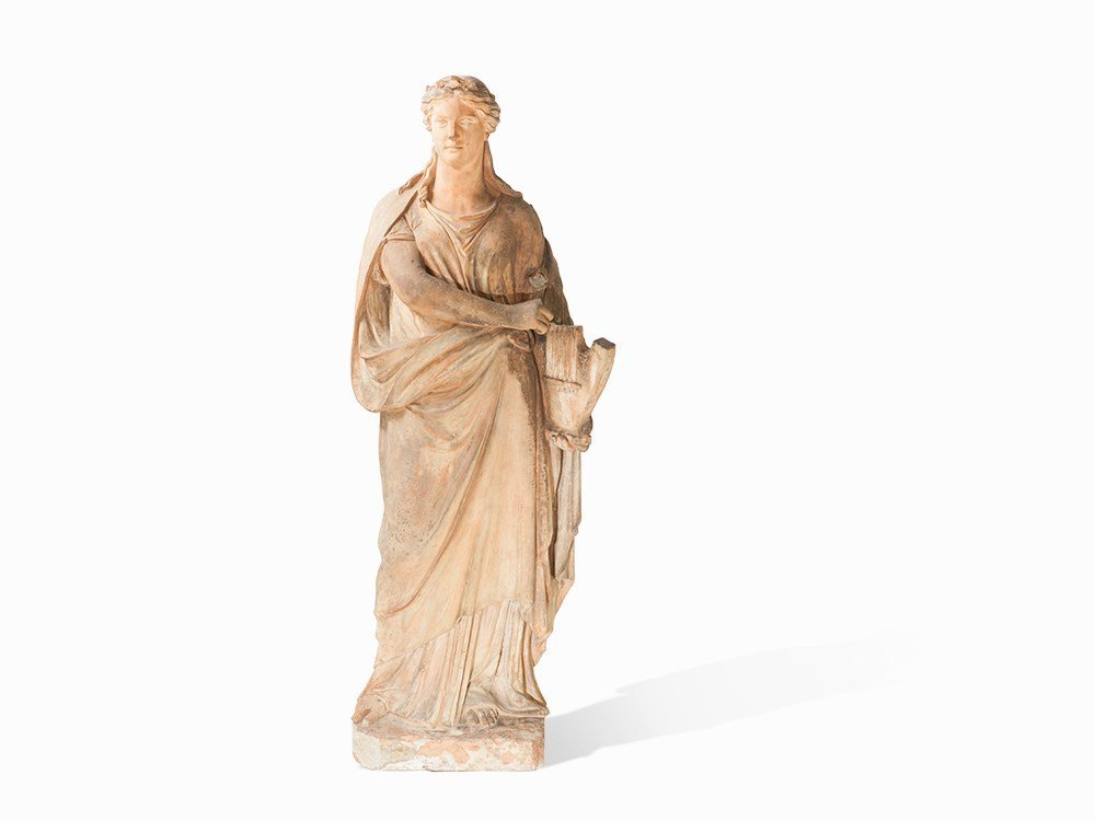 Allegory of Poetry, Terracotta, Vienna, 2nd Half 19th
