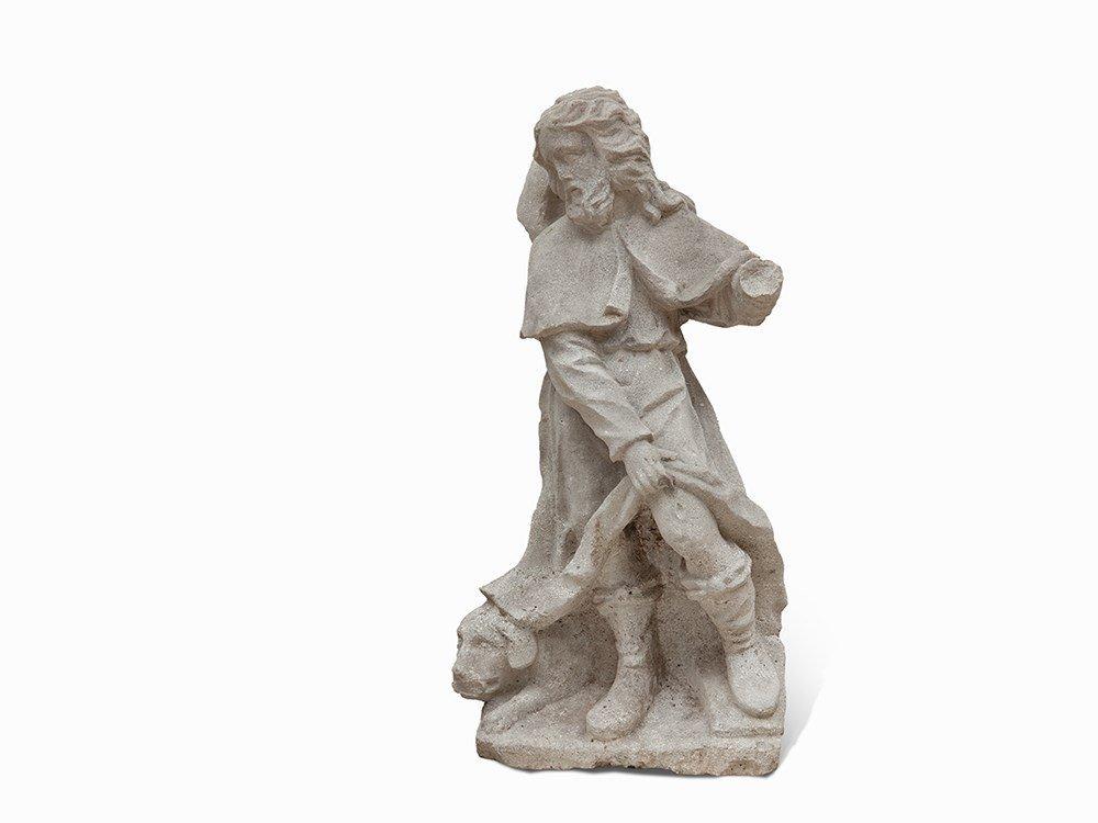 Statue of Saint Roch, Sandstone, Austria, 18th Century