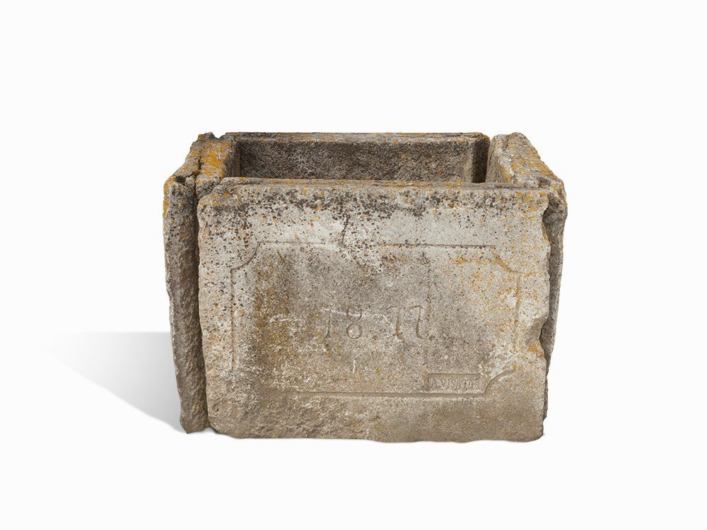 Square Basin of A Fountain, Shell Stone, South Germany,