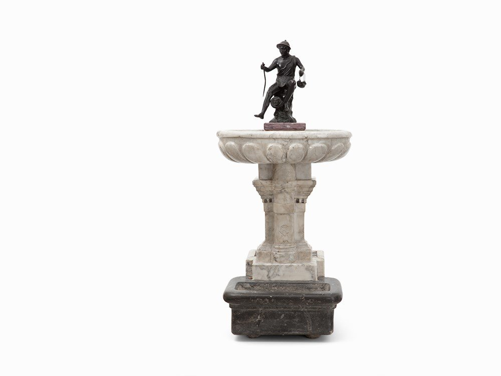 Table Fountain, Marble, South Europe, 1820s