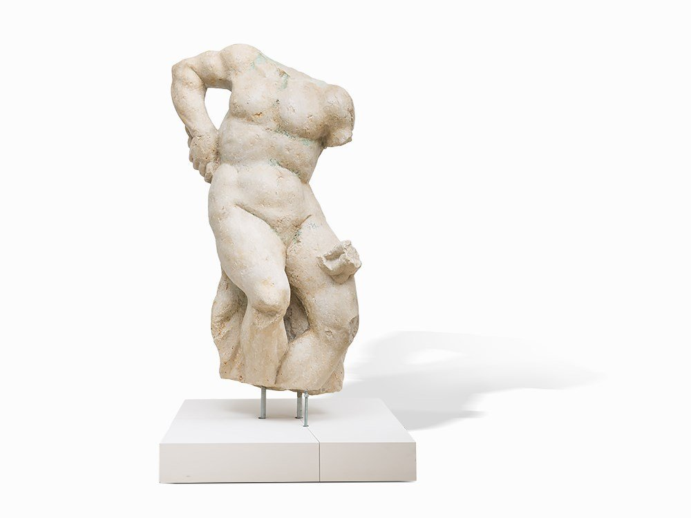A Male Torso from Istrian Marble, Italy, 16th/17th