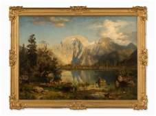 August Wilhelm Leu(1819-1897), Mountain Scenery,