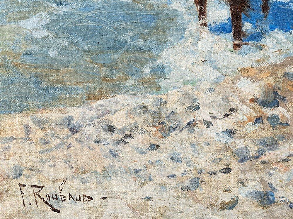 Franz Roubaud, Circassian Horsemen Fording a River, - 4