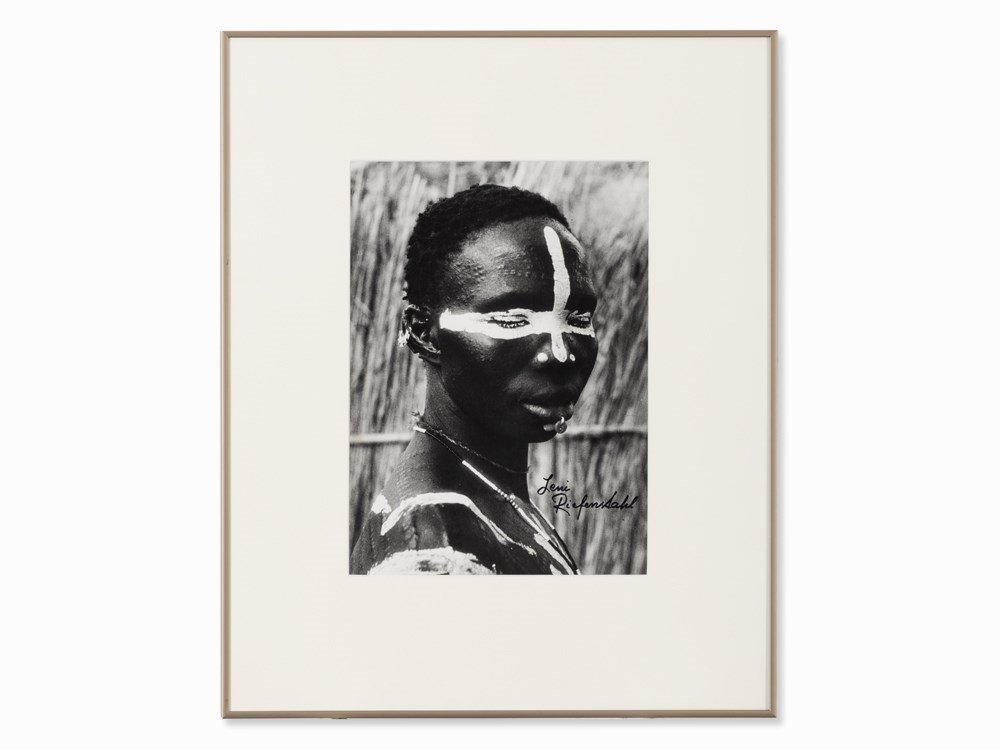 Leni Riefenstahl, Nuba Portrait, Gelatine Silver Print,