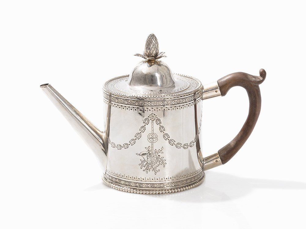 W. Hancock & J. Rowbotham, Silver Tea Pot, Sheffield,