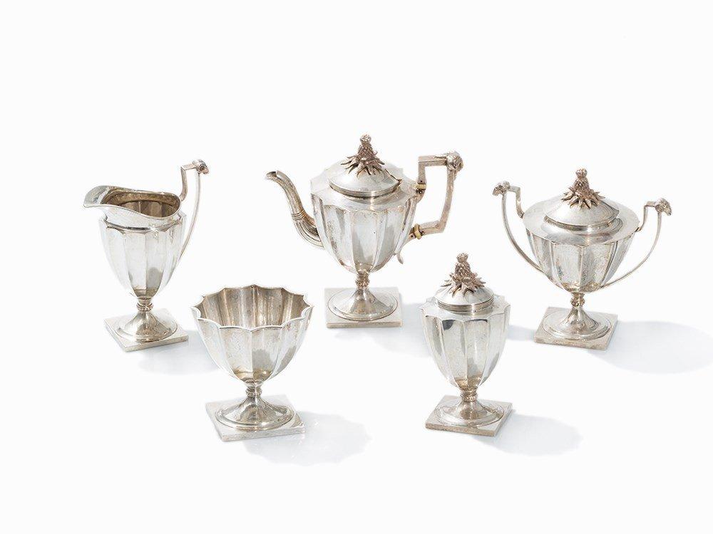A. G. Schultz, Tea Set, Silver, Baltimore, 2nd Q. 20th