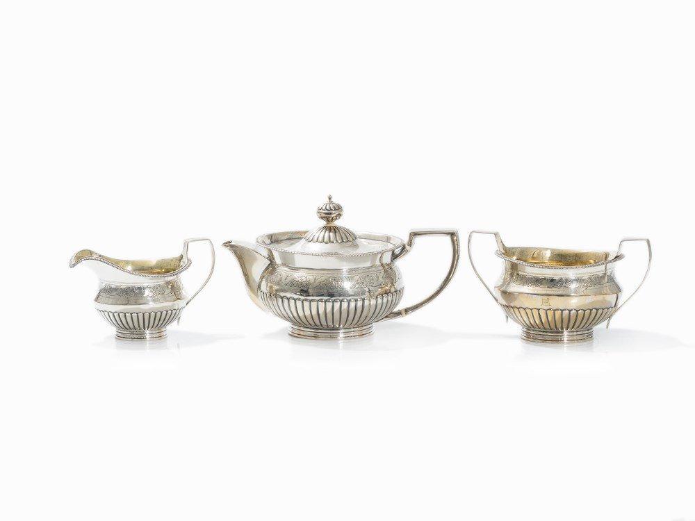 John Zeigler, Tea Set, Sterling Silver, Edinburgh, 1802