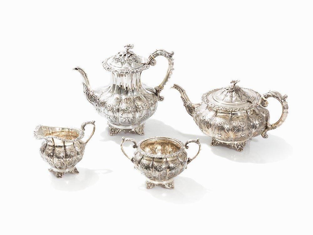 George IV Tea- & Coffee Set, Sterling Silver, 1831/1927