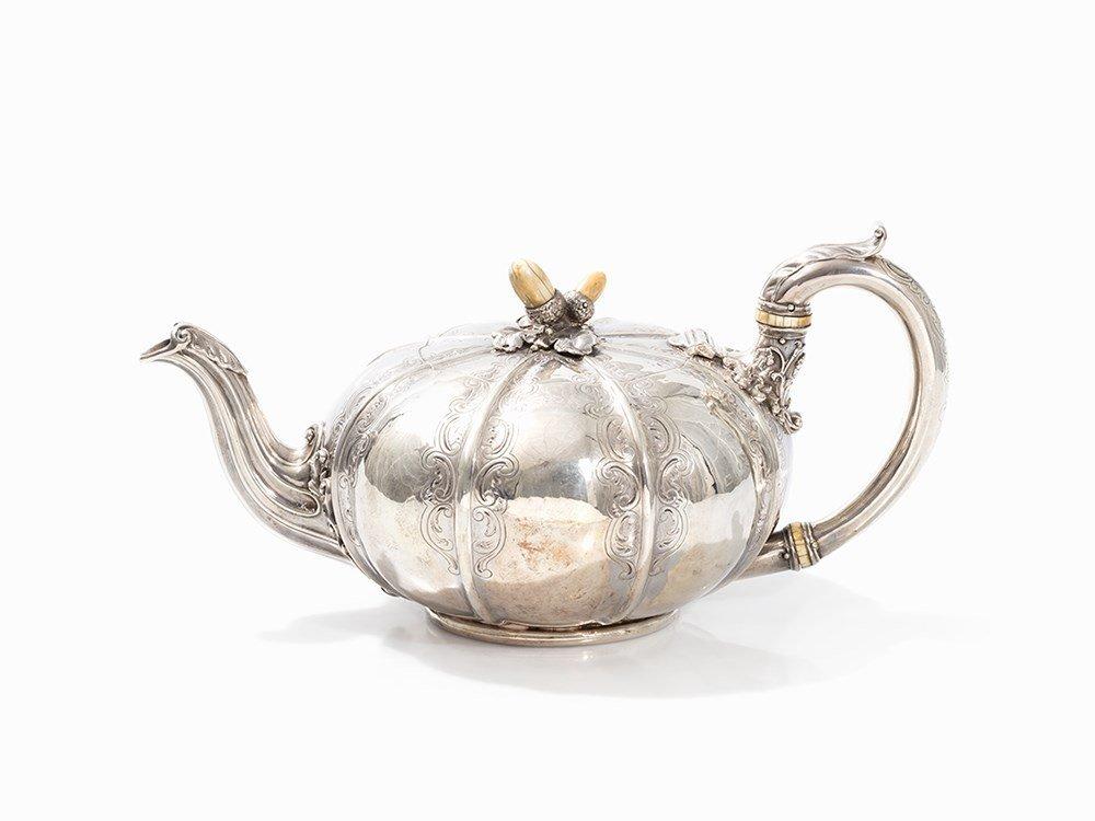 Paul Storr, Teapot, Sterling Silver, London, c. 1825