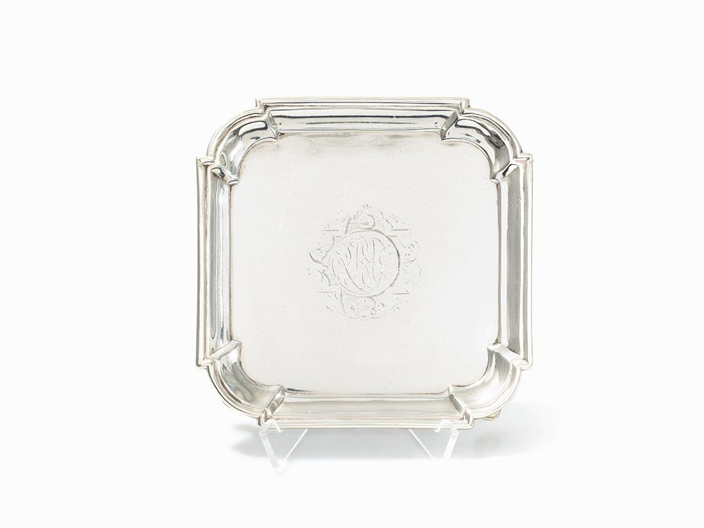 David Willaume, Salver, Georg I Sterling Silver,