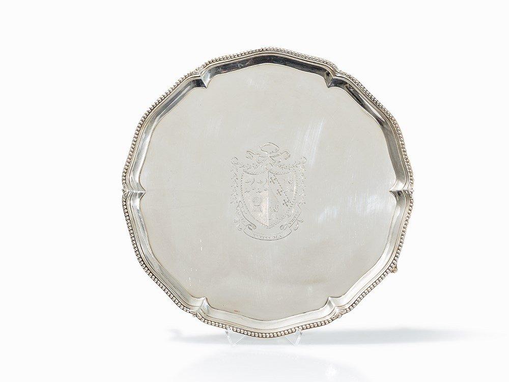 Joh Carter, Salver, Sterling Silver, London, 1774