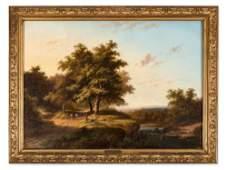 Jan Evert Morel II (1835-1905), Wooded River Landscape,