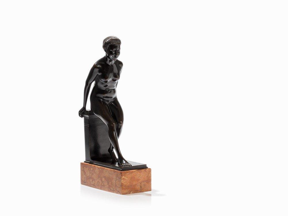 Turi Weinmann (1883-1950), Female Nude, Bronze, 1919 - 5