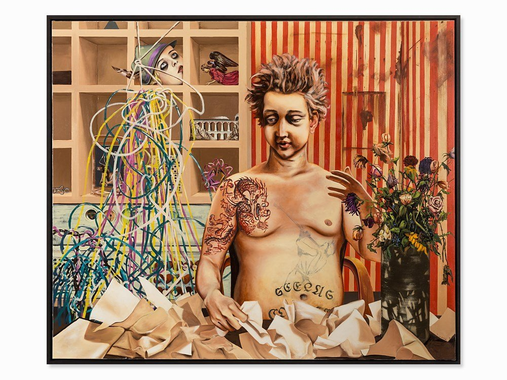 Vincent Wenzel (b. 1979), Insomnia, Oil Painting, 2008