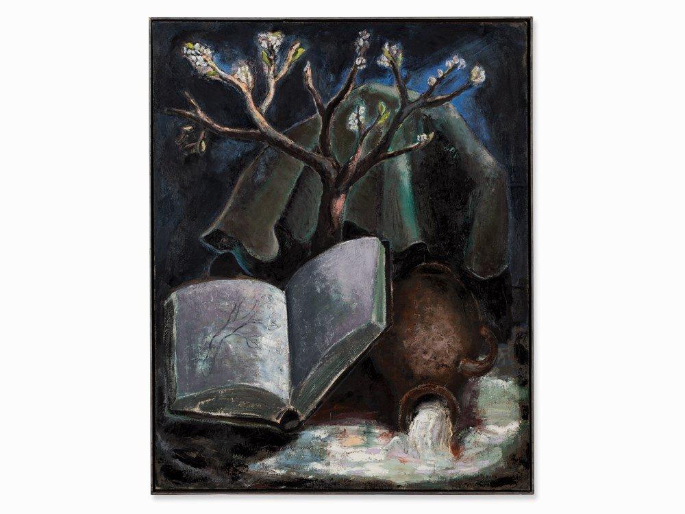 Martin Scholz (born 1958), Die Quelle, Oil Painting,