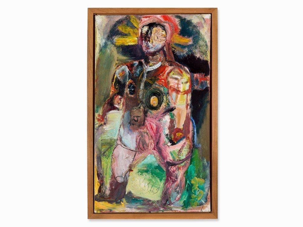 Werner Liebmann (b. 1951), Auch Du – III, Oil, 1996