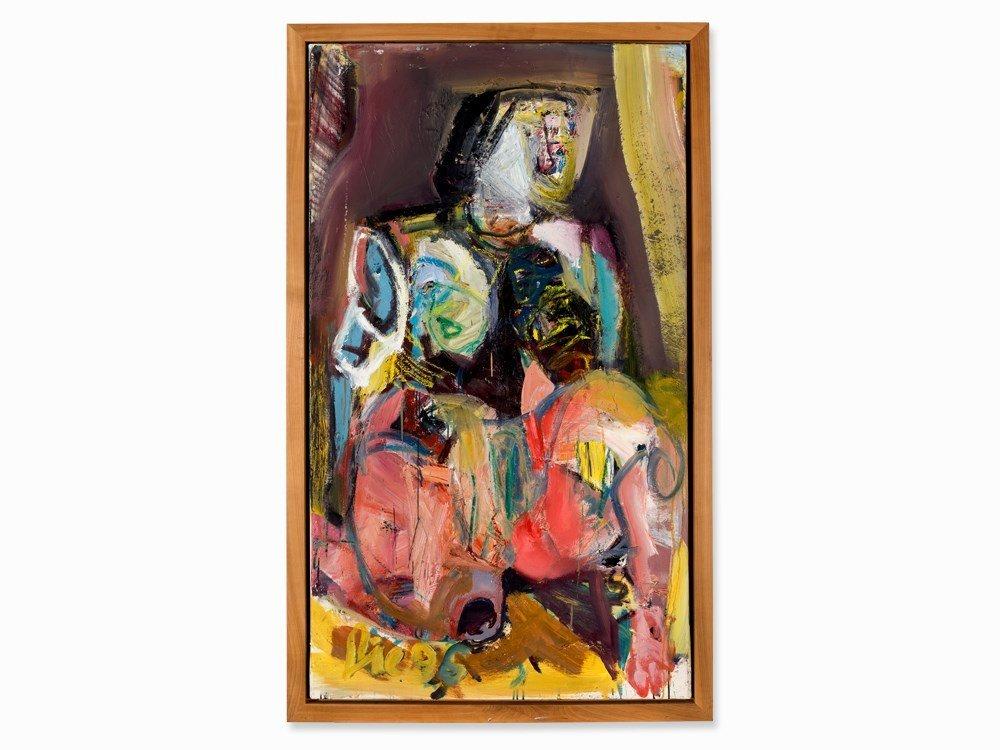 Werner Liebmann (b. 1951), Auch Du – IV, Oil, 1996