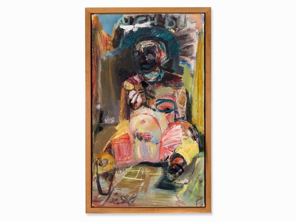 Werner Liebmann (b. 1951), Auch Du – V, Oil, 1996