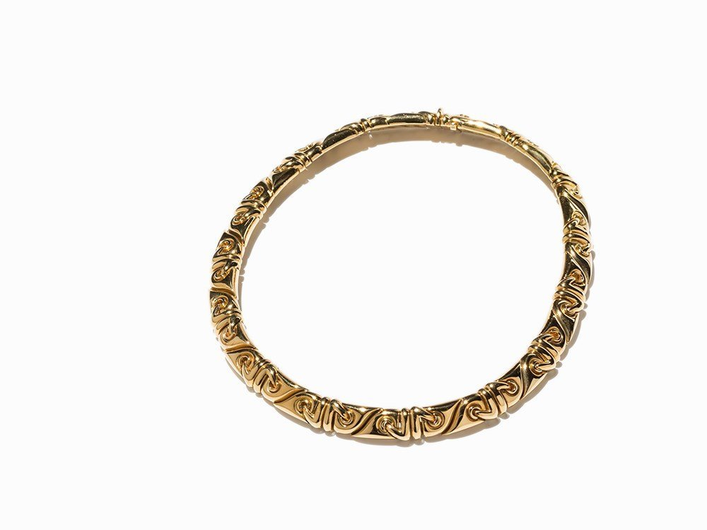 Bulgari Necklace in 18K Yellow Gold, 1980s