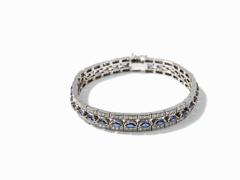 Bracelet, 32 Sapphires of 4 ct. and 192 Diamonds of 3