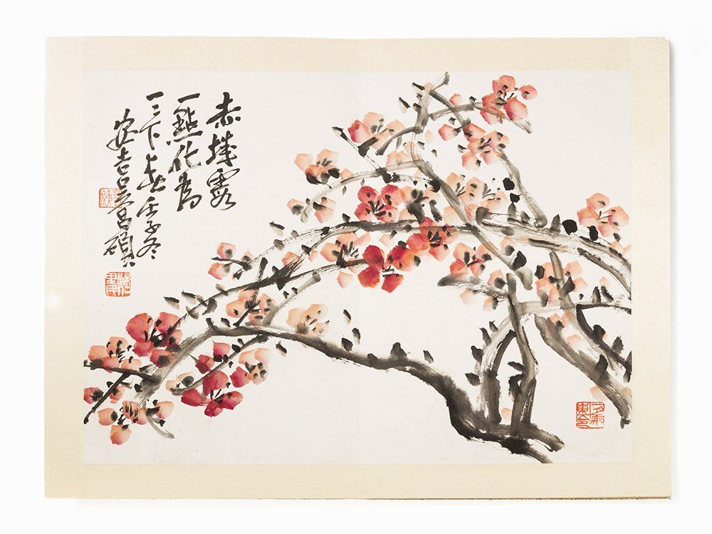 WU Changshuo, Album with Ink Paintings and Calligraphy,