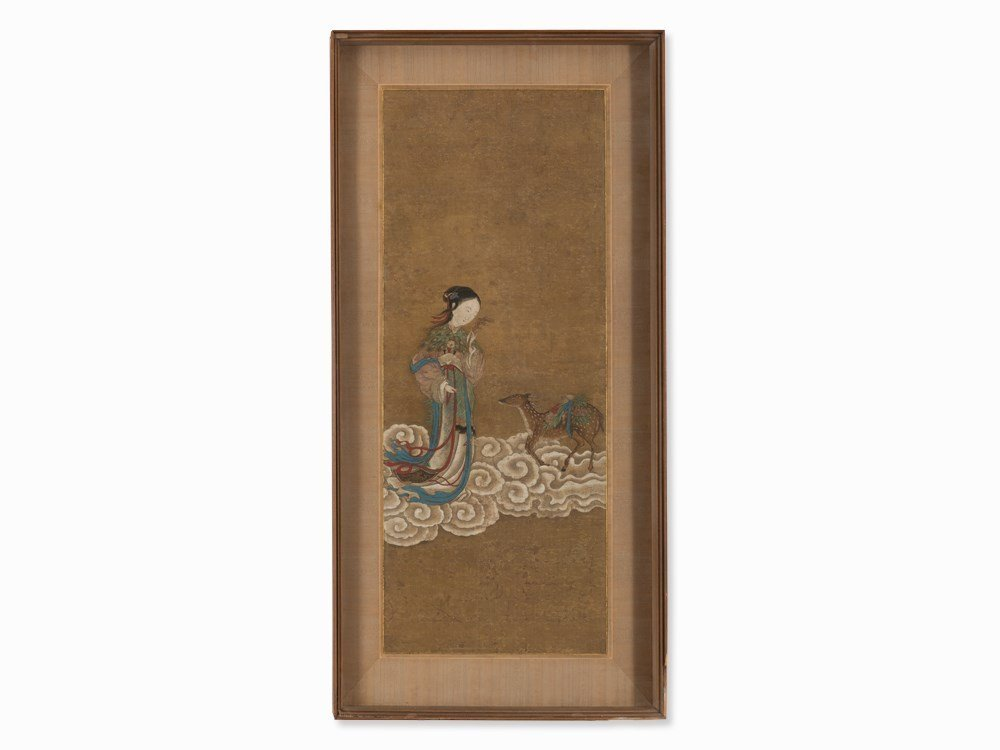 Painting, Magu with Young Deer, Qing Dynasty