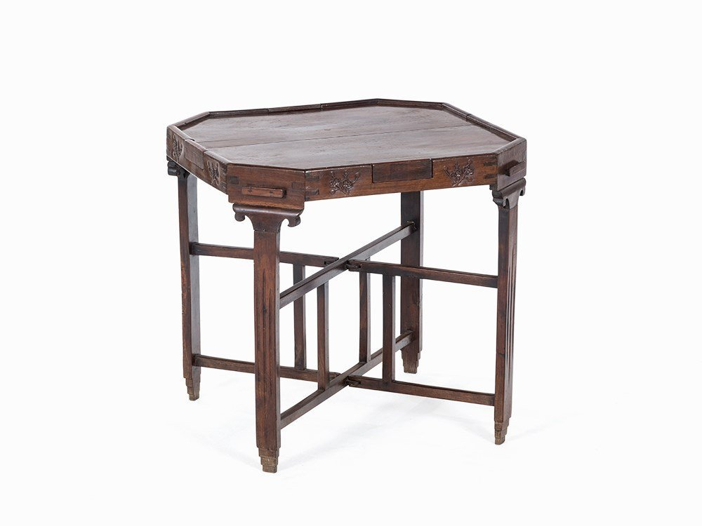 Gambling Table with Extendible Drawers, China, Qing