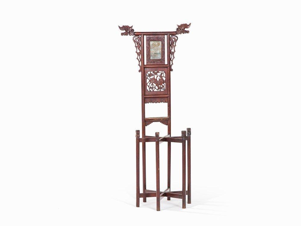 Washbasin Stand with Mirror, Mahogany, China, 1st Q.