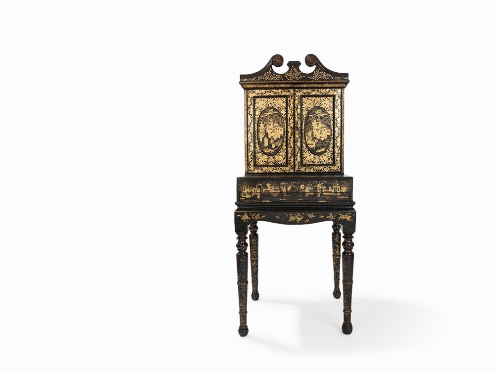 Chinoiserie Two-Piece Cupboard, China, Late 19th C.