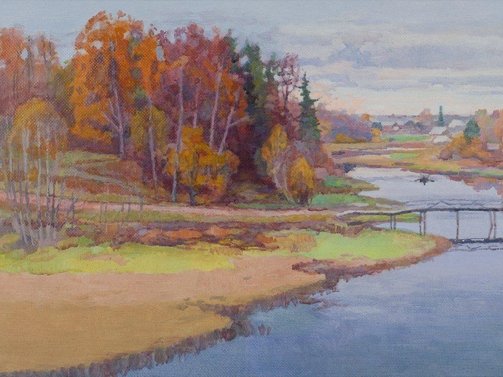 Oil painting Autumnal Day by Aleksandr Kompus, 2011