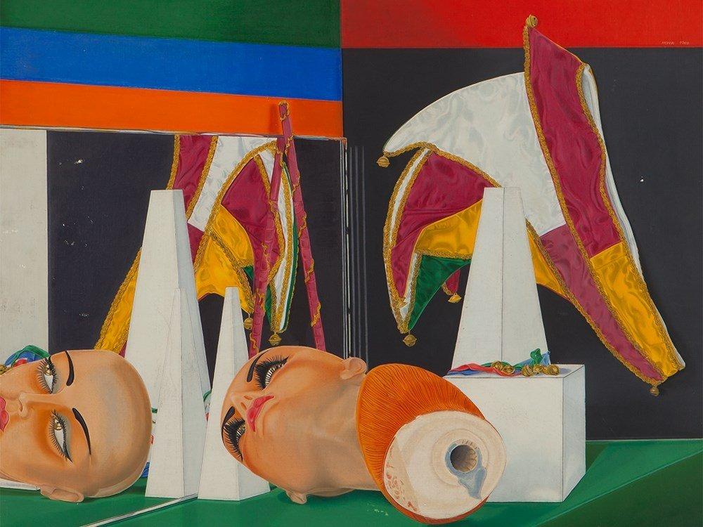 Hofer, Oil Painting, Cap of a Carnival Fool, 1969