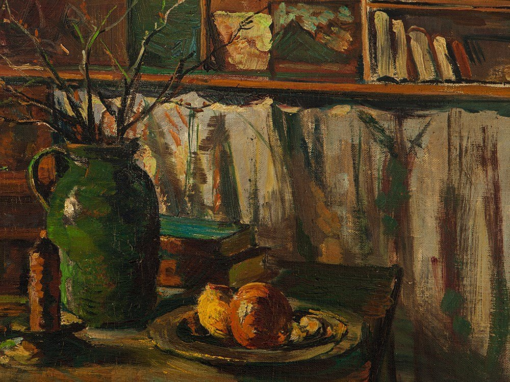 Oil on Canvas, Still Life with Jug, Germany, 1951