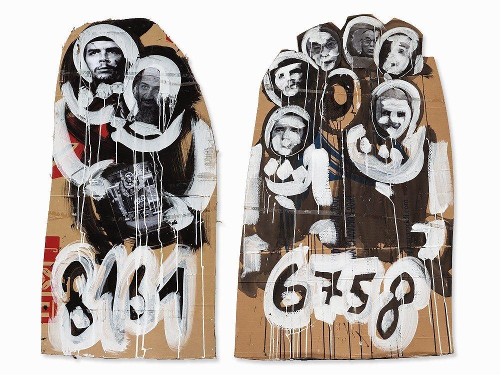 Christian Eisenberger, Mixed Media, '6758' & '8161',