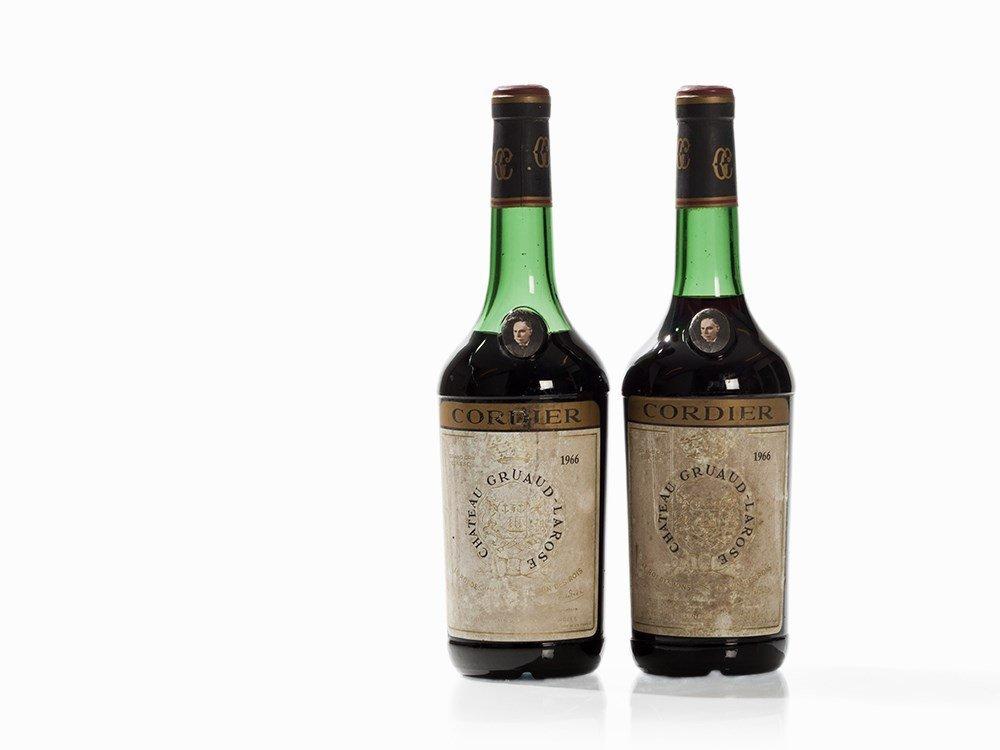 2 Bottles 1966 Château Gruaud-Larose, Saint-Julien