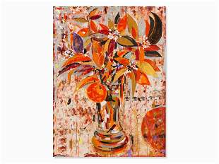 Alfonso Albacete (b. 1950), Arcangel Naranja, Acrylic,