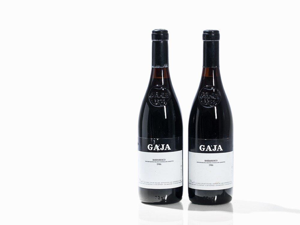 2 Bottles 1986 Gaja Barbaresco, Piedmont