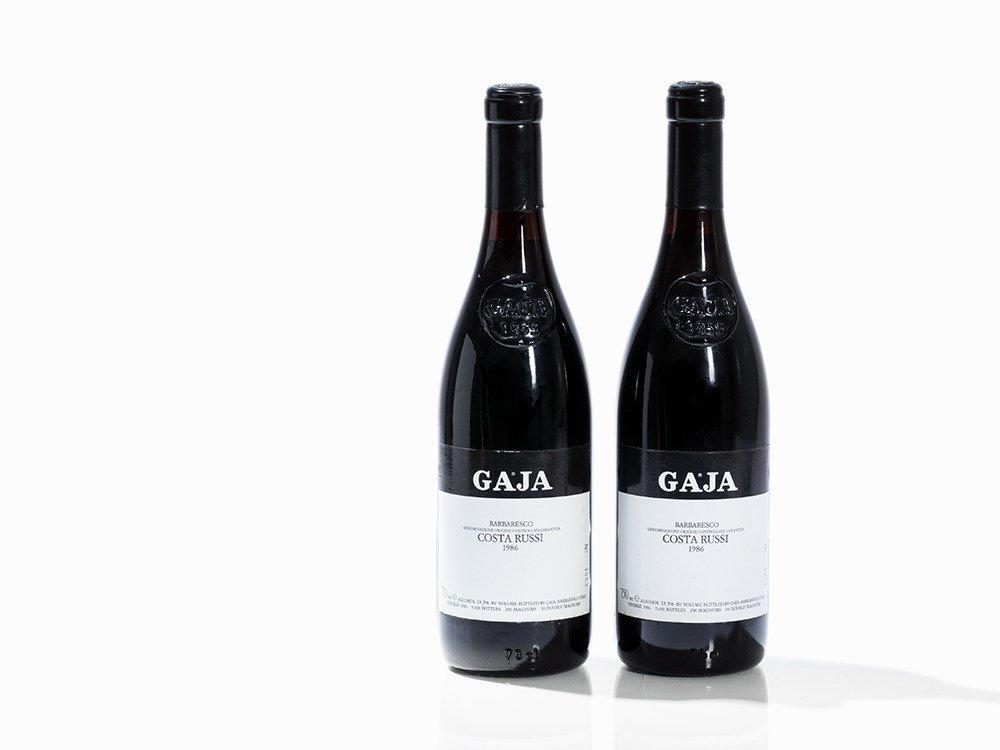2 Bottles 1986 Gaja Barbaresco Costa Russi, Piemont