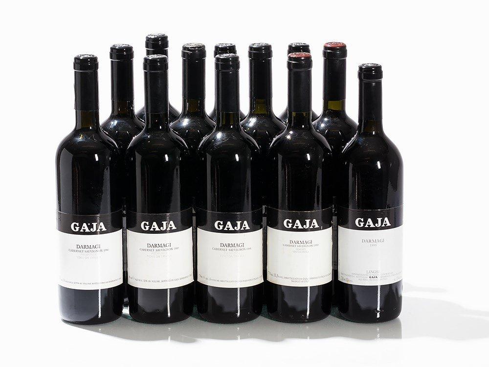 12 Bottles 1986/1987/1988/1990/1993 Gaja Darmagi Langhe