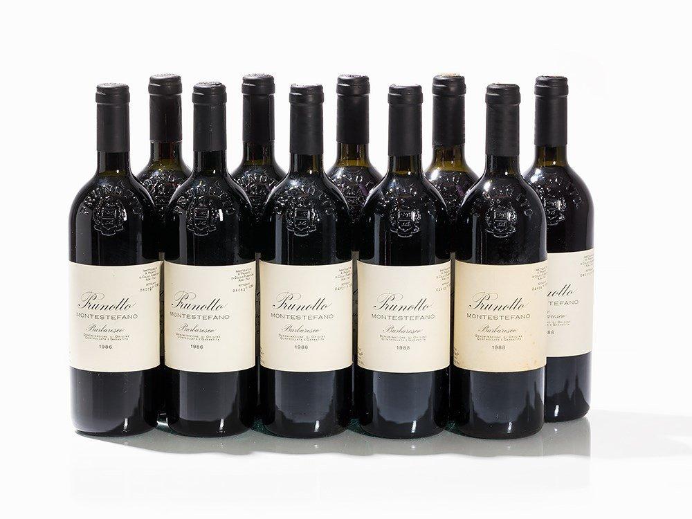 10 Bottles 1986/1988 Prunotto Barbaresco Montestefano
