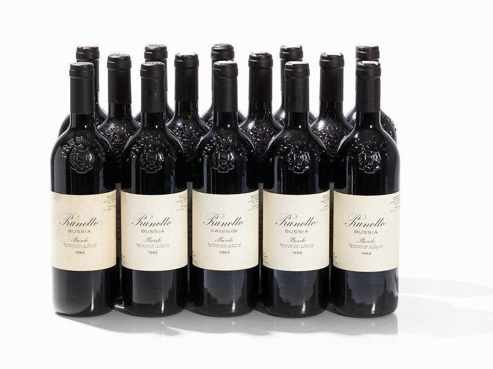 14 Bottles 1985/1988 Prunotto Barolo Bussia & Cannubi